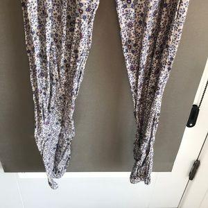 Zara Pants - Strapless Zara violet flower playsuit